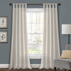 Knotted Tab Top Curtain Panels