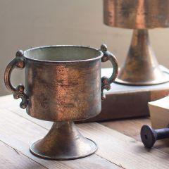 Copper Finish Urn Planter Set of 2