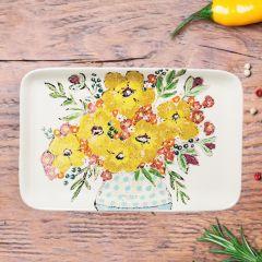 Bright Bouquet Stoneware Platter