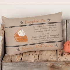 Pumpkin Pie Recipe Accent Pillow