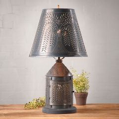 Lamp With Punched Metal Shade