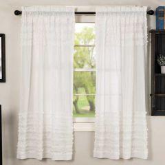 Ruffled Petticoat Curtain Panel Set of 2