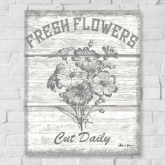 Fresh Flowers Canvas Farmhouse Wall Art