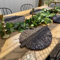 Seagrass Leaf Shaped Placemat Set of 4