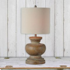 Distressed Base Country Table Lamp