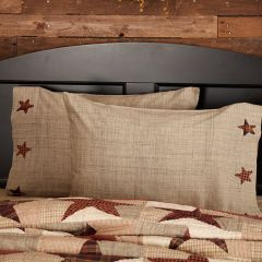 Country Star Pillow Case Set of 2