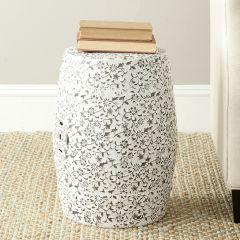 Vine Pattern Ceramic Garden Stool