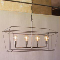 Open Frame Linear Pendant Light