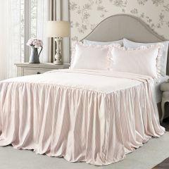 Classic Ticking Stripe Blush Bedding Set