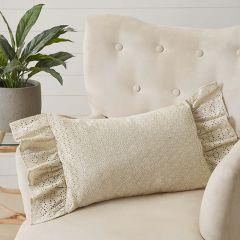 Ruffled Eyelet Throw Pillow