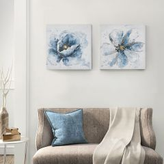 Cottage Classic Floral Wall Art Set of 2
