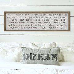 Love Is Patient Framed Wall Decor