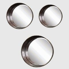 Round Metal Framed Mirrors
