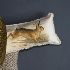 Rabbit Lumbar Pillow With Fringe