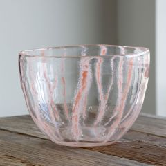 Coral Veining Glass Bowl