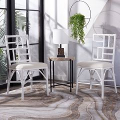 Cutout Back Cushioned Dining Chair Set of 2