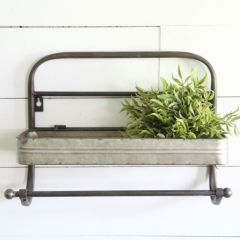 Kitchen Wall Shelf With Towel Rack