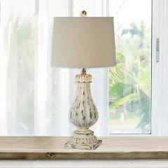Distressed Elegant Table Lamp Set of 2