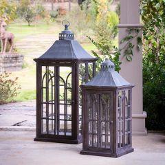 Palladian Window Style Lanterns Set of 2