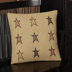 Rustic Applique Star Pillow