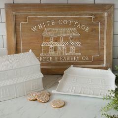 Whitewashed Cottage Bakery Wood Sign
