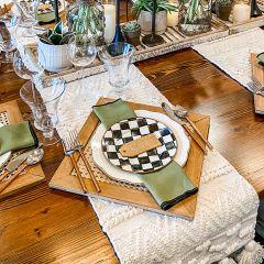 Textured Cotton Table Runner