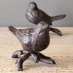 Perched Bird Figure Set of 2