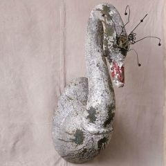 Wire Crowned Swan Wall Decor