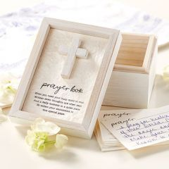Whitewashed Wooden Prayer Box Set of 2