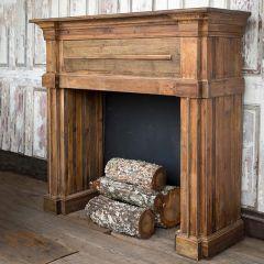 Reclaimed Pine Wood Mantel