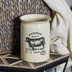 Farm Animal Utensil Crock Collection Set of 3