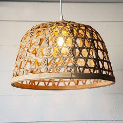 Basket Covered Pendant Light