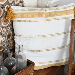 Tasseled Cotton Accent Pillow