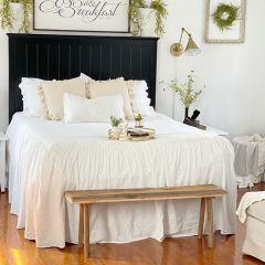 Simple Ruffle Bedspread Set