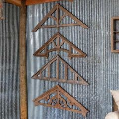 Architectural Gable Wall Decor Set of 4