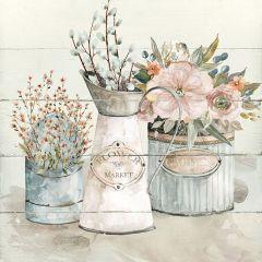 Cottage Floral Arrangements Wall Art