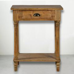 Wood End Table With Drawer