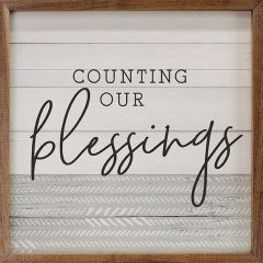 Counting Our Blessings Framed Sign