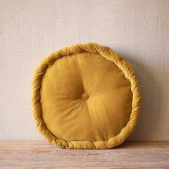Round Velvet Floor Pillow Cushion