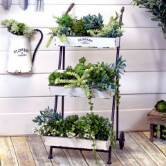 3 Tiered Metal Flower Planter Cart