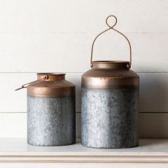 Handled Metal Canister Set of 2