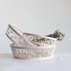 Round Bamboo Baskets Set of 3