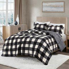 3 Piece Buffalo Check Comforter Set