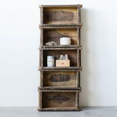 Vintage Brick Mold Bookshelf