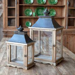 Display Style Candle Lantern Set of 2
