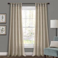 Linen Tab Top Curtain Panel Set of 2