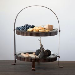 Metal Stand With Glass Trays