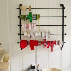 Ribbon and Wrapping Paper Wall Rack