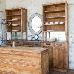 Tall Bar Back Storage Cabinet
