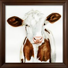 Country Cow Square Wall Art